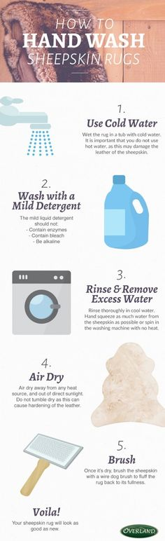 How to wash sheepskin rugs//