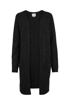 herlig Second Female Black Overdeler Sort Cardigan - Kvinner Klær Sorting, My Wardrobe, Knit Cardigan, Cape, Lifestyle, Female, Knitting, Sweaters, How To Wear