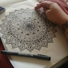 Mandala - love the dot work.