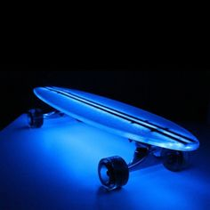 Flexdex 29 in. Clear Lighted Skateboards with Blue LED Lights - Skateboards and Skates at Hayneedle