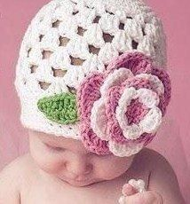 DIY Crochet DIY Yarn: DIY Easy baby hat crochet pattern!