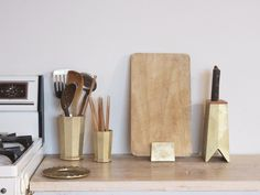 Masanori Oji - brass kitchen accessories