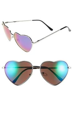 """BP. Heart Shaped 58mm Sunglasses (Juniors) available at #Nordstrom Why just for """"JUNIORS""""???? Love these!"""
