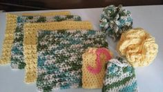 Cotton wash cloths Washing Clothes, Pot Holders, Cloths, Cotton, Handmade, Crafts, Drop Cloths, Hand Made, Manualidades