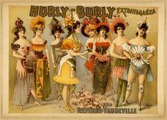 antique victorian vaudeville burlesque show by FrenchFrouFrou