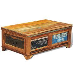 Couchtisch Beistelltisch Aufbewahrungsbox Vintage Retro