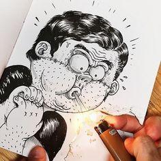 Ilustrador briga e se envolve com seus próprios desenhos no instagram