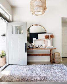 Interior Exterior, Home Interior Design, Interior Decorating, Hallway Decorating, My Living Room, Home And Living, Living Spaces, Console Table, Boho Home