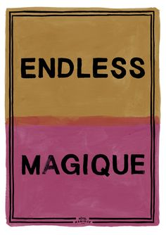HOTEL MAGIQUE Endless Magique art print. Shop online HOTELMAGIQUE.COM