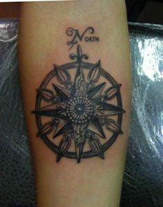 compass tattoo www.tattooandtattoo.com