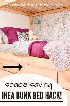 Save space in kids' bedrooms with this clever space-saving Ikea storage hack! The rolling drawers hold toys, bedding, or kids' clothes.