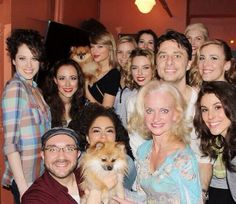 Taylor saw the musical Bullets Over Broadway last night and met the cast after!