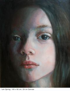 Portrait, Oil on Canvas, 100 x 80 cm, 2013 Painter Artist, Oil On Canvas, Saatchi Art, Contemporary Art, Original Paintings, My Arts, Faces, Women, Pictures
