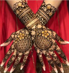 94 Easy Mehndi Designs For Your Gorgeous Henna Look Henna Hand Designs, Mehndi Designs Finger, Wedding Henna Designs, Engagement Mehndi Designs, Floral Henna Designs, Back Hand Mehndi Designs, Latest Bridal Mehndi Designs, Modern Mehndi Designs, Mehndi Designs For Girls