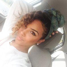 Twisted HeadWrap Bun w/ Curly Side Bang |  __lipstickncurlss__