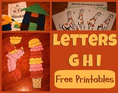Fun printables for studying G H I