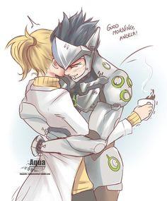Overwatch Mercy and Genji