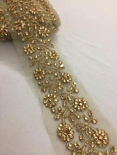 Buy laces, saree laces and borders online – Akrithi Basic Embroidery Stitches, Lace Embroidery, Embroidered Lace, Beaded Lace, Embroidery Designs, Mens Kurta Designs, Saree Blouse Designs, Dress Designs, Online Shopping Sarees