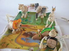 Gli animali della foresta #legno #animali #bambini #giochi #wood #handmade #fattoamano #leone #elefante #pecora #scimmia #children