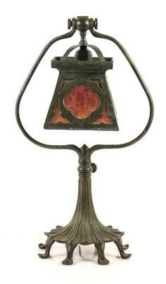 Tiffany Studios Harp Form Desk Lamp