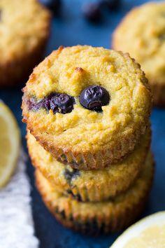 Lemon Blueberry Muffins {Paleo & Nut Free} | The Paleo Running Momma