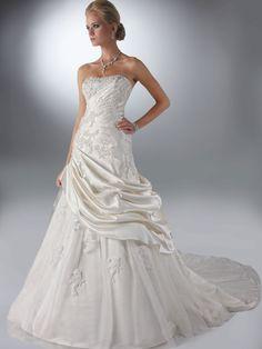 Strapless Tulle Underskirt Wedding Gown Davinci Bridal 50103|DimitraDesigns.com