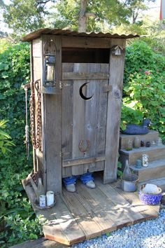 Hubby built this Outhouse for our back yard. Decoration only!
