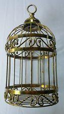 Gold Metal Brass Decorative Filigree Bird Cage Home Interiors & Gifts Birdcage