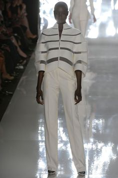 Architectural modernist lady at Chado Ralph Rucci Spring 2013
