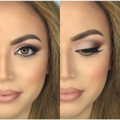 Ideas Makeup For Brown Eyes Natural Looks Black Women For 2019 Wedding Makeup For Brunettes, Wedding Makeup For Brown Eyes, Best Wedding Makeup, Wedding Makeup Looks, Natural Wedding Makeup, Natural Makeup Looks, Wedding Make Up, Trendy Wedding, Hair Wedding