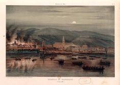Ilustración. del Incendio de Valparaíso en 1850
