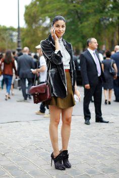 Topped off with a velvet blazer - - Caroline Issa