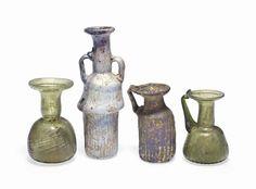 FOUR ROMAN GLASS VESSELS   CIRCA 2ND-4TH CENTURY A.D.   Ancient Art & Antiquities Auction   3rd Century, 2nd Century   Christie's
