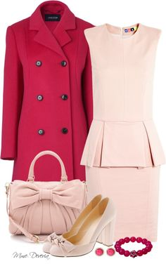 """Think pink #3"" by madamedeveria ❤ liked on Polyvore"