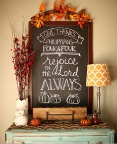 Thanksgiving chalkboard idea