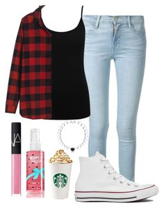 """Ootd"" by sloanearia ❤ liked on Polyvore featuring Frame Denim, M&Co, Madewell, Converse, NARS Cosmetics, women's clothing, women, female, woman and misses"