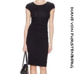 NWT Diane Von Furstenberg Greta Black Dress 6 NWT Diane Von Furstenberg Greta Black Dress. Size 6. SOLD OUT in stores and OUT OF STOCK. Diane von Furstenberg Dresses Midi
