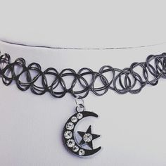 Sometimes simple is best, like our Moon and Stars choker for £1.99/$2.50.  Get it here - https://www.darkstormstore.com/collections/chokers/products/moon-and-stars-tattoo-choker  FREE UK DELIVERY on all orders over £15.00. International delivery from only £3.99/$5.22. All none GBP prices are estimates.   #darkstormstore #goth #gothic #alternative #dark #alt #gothicjewelry #gothicjewellery #gothjewelry #gothjewellery #nugoth #pastelgoth #gothgoth #darkstyle