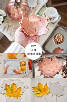 Legende DIY-Blattschüssel, Herbsthandwerksidee Diy Fall Crafts easy diy crafts for fall Diy Crafts Easy To Make, Diy Home Crafts, Diy Arts And Crafts, Diy Craft Projects, Wood Crafts, Decor Crafts, Leaf Crafts, Diy Wood, Crafts For The Home