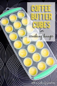 coffee butter cubes for crushing hunger //bullet proof coffee healthy recipe hack
