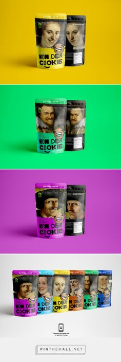 Won Der Cookie packaging design concept by David & Vsevolod - http://www.packagingoftheworld.com/2017/06/won-der-cookie-concept.html - created via https://pinthemall.net