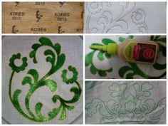 Liquid embroidery