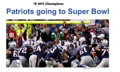 Patriots going to the Super Bowl