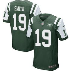 New York Jets #19 Devin Smith Green Team Color NFL Nike Elite Men's Jersey
