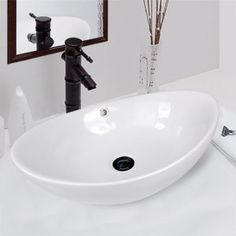 BATHROOM CERAMIC VESSEL PEDESTAL SINK BOWL VANITY NEW