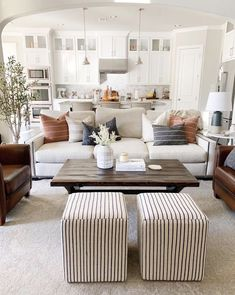 Home Interior Salas .Home Interior Salas Home Living Room, Apartment Living, Living Room Designs, Living Area, Cozy Living, Barn Living, Living Room With Color, Living Room And Kitchen Together, Chairs For Living Room
