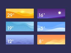 Weather App designed by Xiu yuan . Connect with them on Dribbble; App Ui Design, Mobile App Design, Icon Design, Web Design, Mobile Ui, Weather Cards, Weather Icons, Card Ui, Ui Patterns