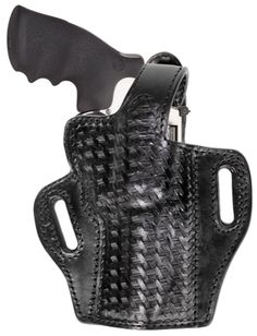 BH55 Belt Slide Holster $89.95 Quick Overview: Metal reinforced thumb break, high-ride holster, tucks close to the body, full combat grip, Hand-boned for each gun, available in a basket weave or plain finish, fully smooth leather lined.