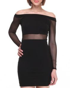 Love this Off the Shoulder Mesh Insert Dress on DrJays and only for $18.98. Take a look and get 20% off your next order! Exclusions apply.