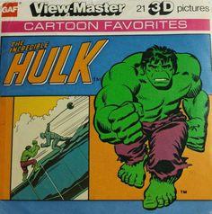 Incredible Hulk View-Master and other vintage toys Gi Joe, Hulk Movie, 1970s Tv Shows, Absorbing Man, Hulk Avengers, 3d Pictures, View Master, Incredible Hulk, Nerd Geek